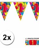 1 jaar vlaggenlijnen 2x met gratis sticker