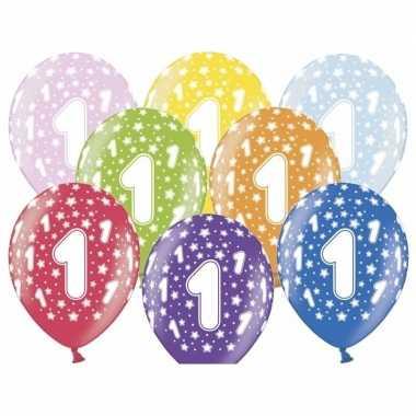 1 jaar ballonnen met sterren