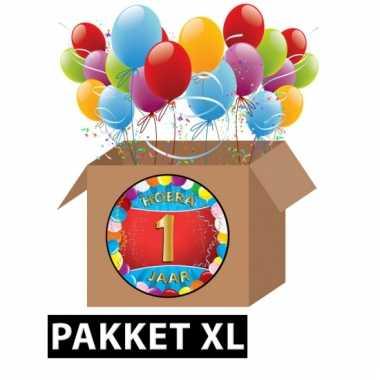 1 jaar feestartikelen pakket xl