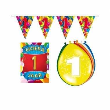 1 jaar geworden feestartikelen voordeel pakket