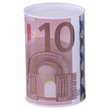10 euro biljet spaarpotje 8 x 11 cm