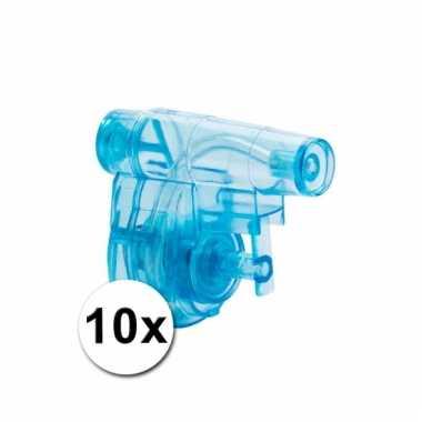 10 goedkope kleine waterpistolen blauw 5 cm