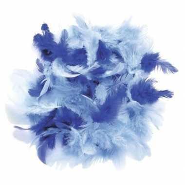 10 gram decoratie sierveertjes blauw kleuren
