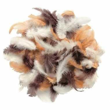 10 gram decoratie sierveertjes bruin kleuren