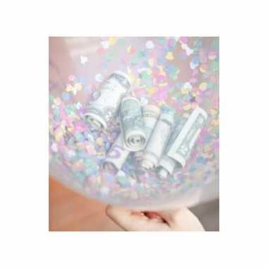 10 hartjes ballonnen vullen met confetti