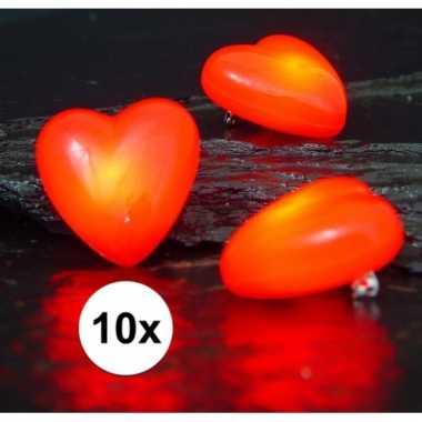 10 hartjes speldjes/pins met lampje