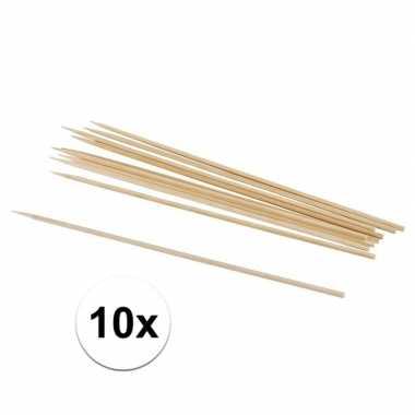 10 hobby knutselhoutjes naturel 20 cm