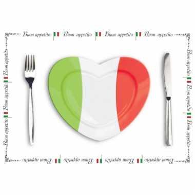 10 italiaanse placemats van papier