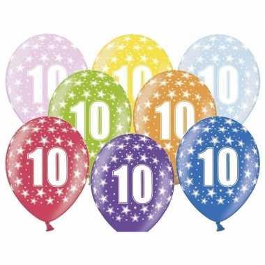 10 jaar ballonnen met sterren