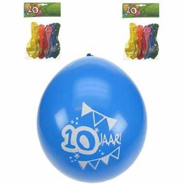 10 jaar ballonnen verjaardag 8 st.