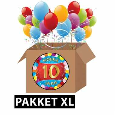 10 jaar feestartikelen pakket xl