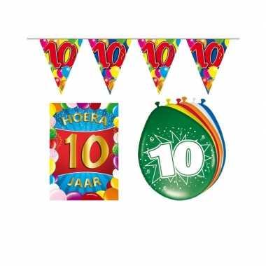 10 jaar geworden feestartikelen voordeel pakket