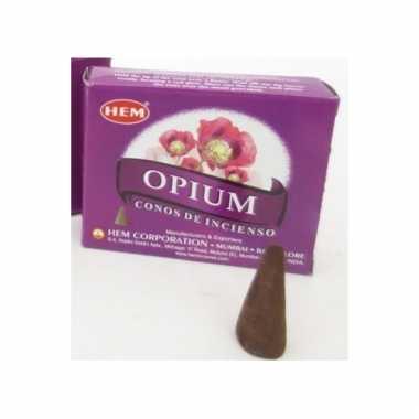 10 kegeltjes opium wierook
