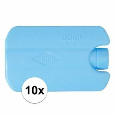10 koelelementen met cooling gel 12 x 8 x 3 cm