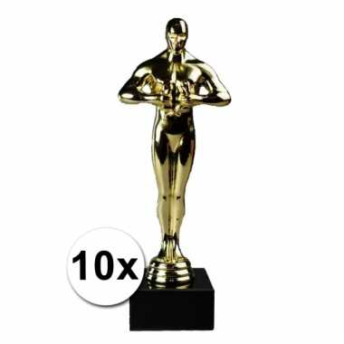 10 luxe gouden beeldjes 22 cm
