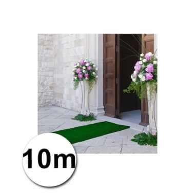 10 meter groene lopers 1 meter breed