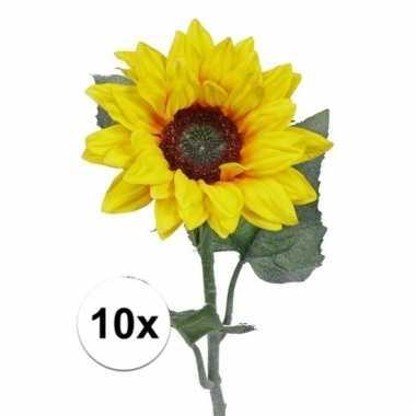 10 nep zonnebloemen 81 cm