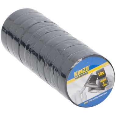 10 rollen isolerende tape voor kabels en elektra 18 mm x 10 meter