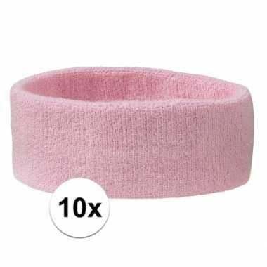 10 stuks babyroze hoofd zweetbandjes
