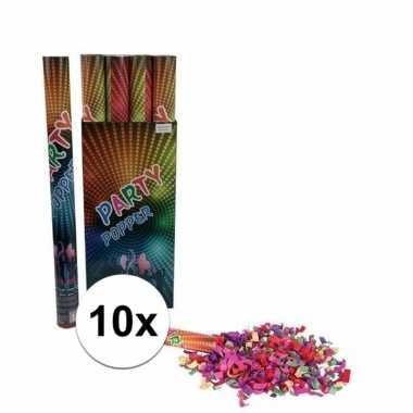 10 stuks confetti kanon kleuren 60 cm