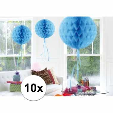 10 stuks decoratie ballen baby blauw 30 cm