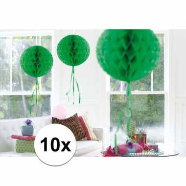10 stuks decoratie ballen groen 30 cm