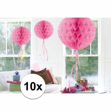 10 stuks decoratie ballen licht roze 30 cm