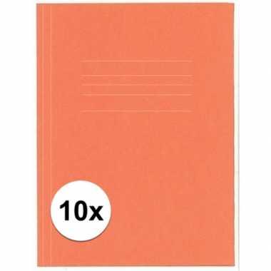 10 stuks folio dossiermap kangaro oranje
