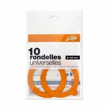 10 stuks inmaak ringen voor weckpot rubber 100 mm