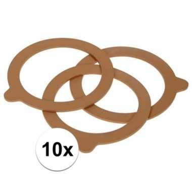 10 stuks inmaak ringen voor weckpot rubber 85 mm