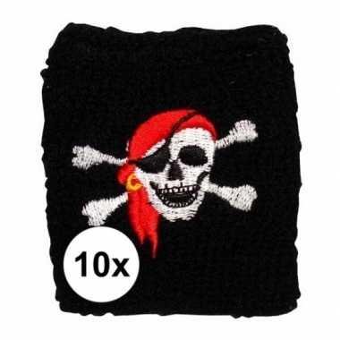 10 stuks piraten pols zweetbandjes