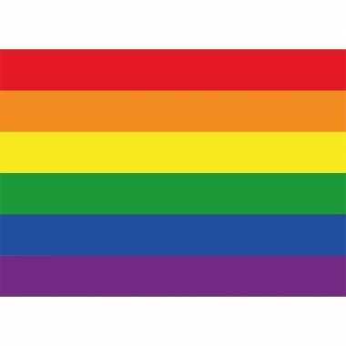 10 stuks regenboog gay vlag stickers 7.5 x 10 cm