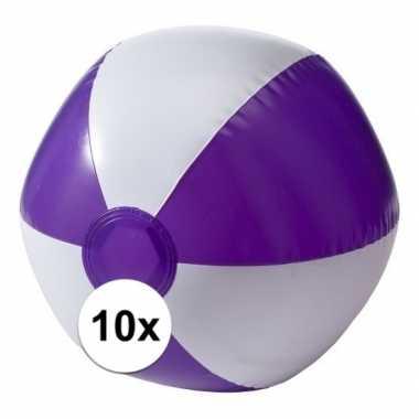 10 stuks strandballen opblaasbaar paars