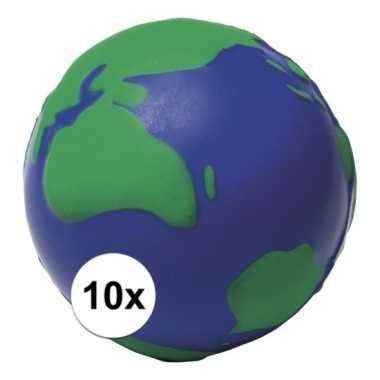 10 wereldbollen aardbollen stressballetjes