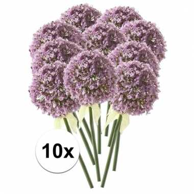 10 x kunstbloemen steelbloem lila sierui 70 cm