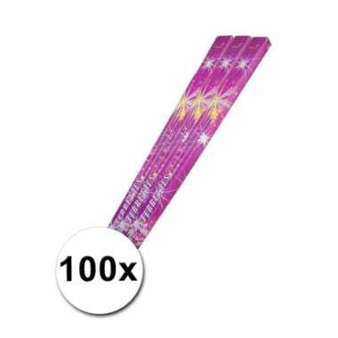 100 feeststerretjes 45 cm