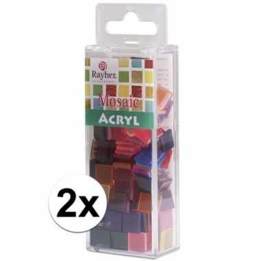 100 gram mozaiek steentjes in diverse kleuren