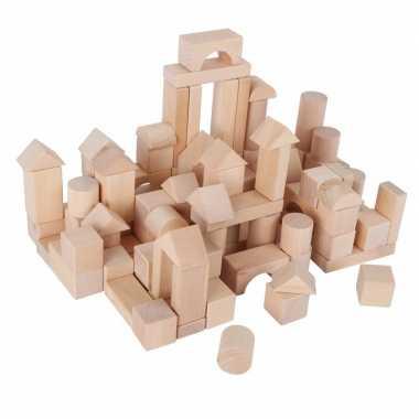 100 houten blokken