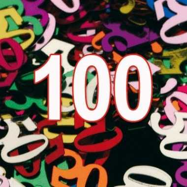 100 jaar gekleurde confetti