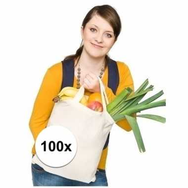 100 katoenen tassen basic