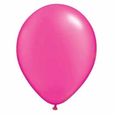 100 stuks neon roze ballonnen