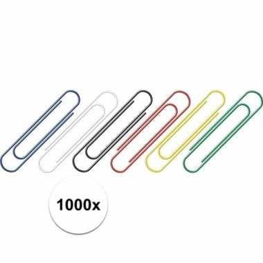 1000 stuks hobby paperclips gekleurd