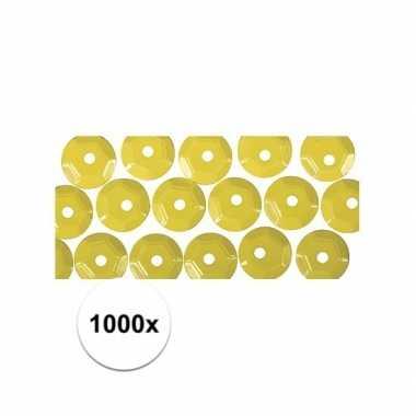 1000x gele pailletten