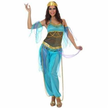 1001 nacht dames kostuum blauw