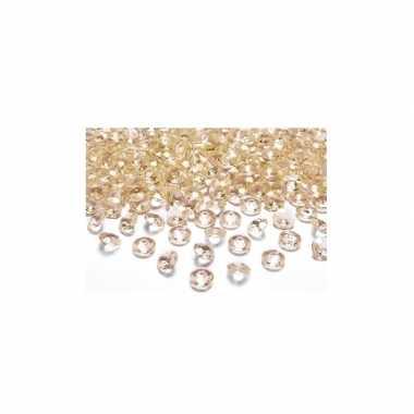 100x gouden trouwdecoratie diamantjes