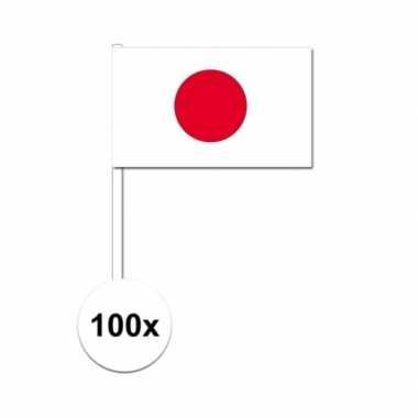 100x japan decoratie papieren zwaaivlaggetjes