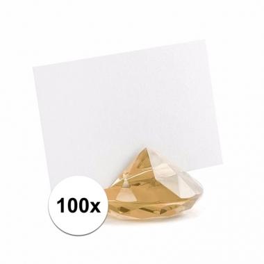 100x plaatsnaam kaartenhouders diamant goud