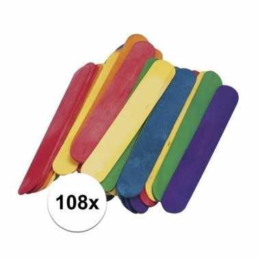 108x ijslolly stokjes 15 x 2 cm