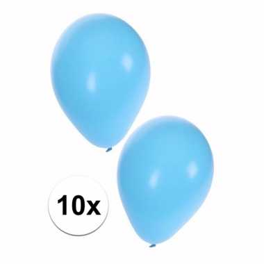 10x baby blauwe ballonnen