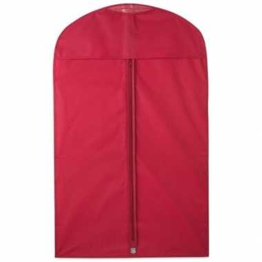 10x beschermhoes voor kleding rood 100 x 60 cm